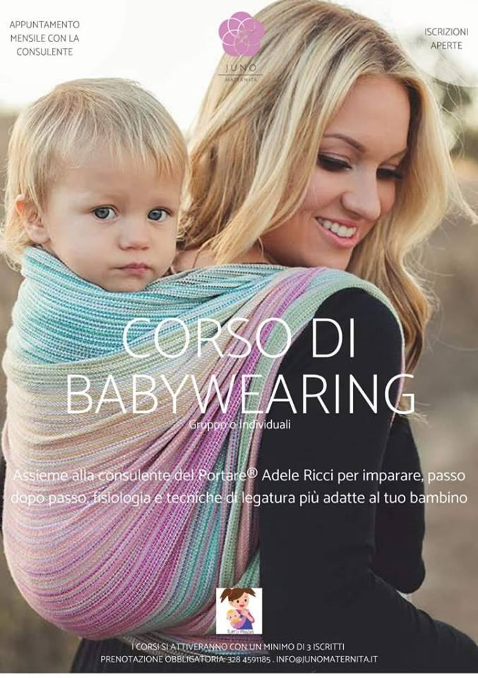 Corso di Babywearing a Pescara da Juno Maternità