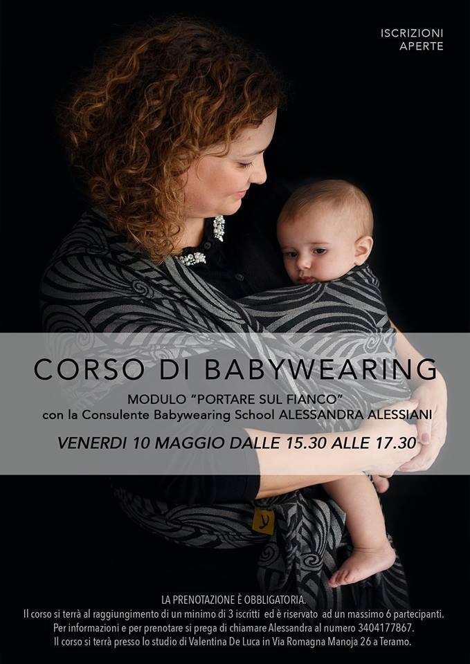 Corso di Babywearing Legare sul fianco Alessandra Alessiani a Teramo