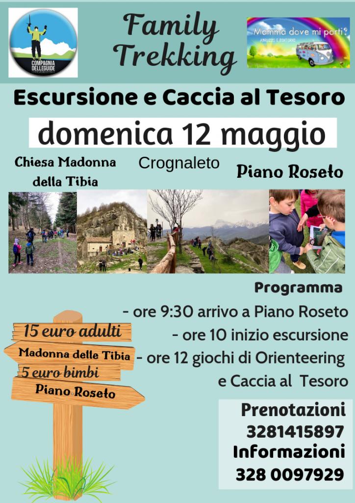 Family Trekking Escursione per famiglie con bambini a Crognaleto