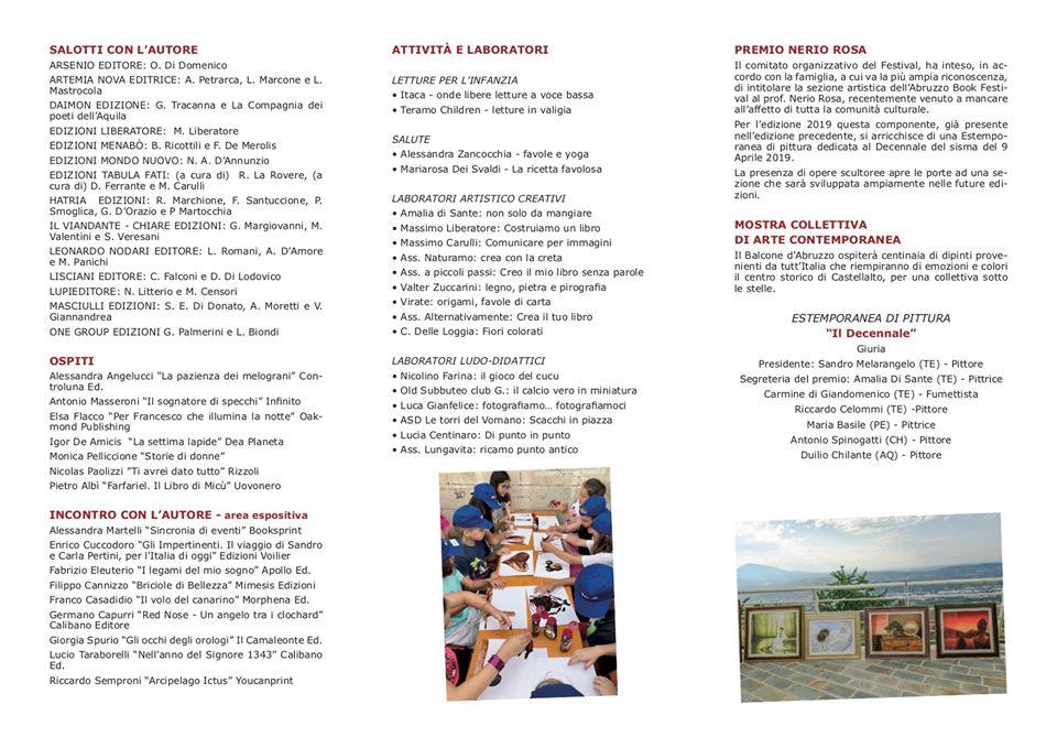 Pagina 2 pieghevole programma Abruzzo Book Festival