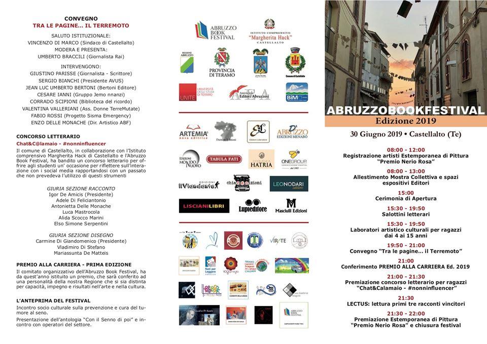 Pieghevole programma Abruzzo Book Festival 2019