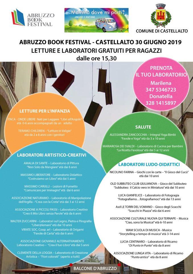 Programma letture e laboratori per bambini e ragazzi di Abruzzo Book Festival 2019