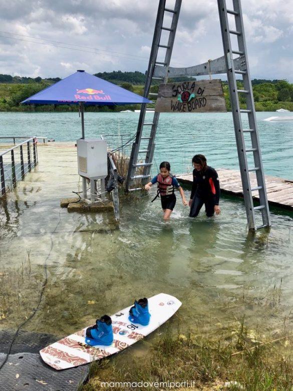 Uscita dal Lago Hot Lake Cable Park a Manoppello di Pescara