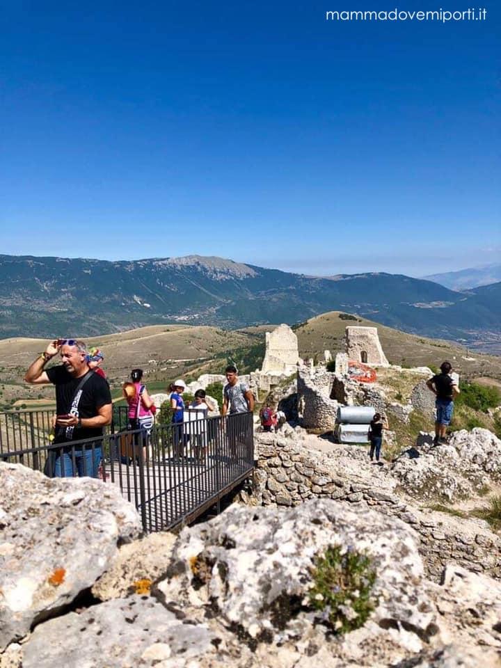 Ingresso al Castello di Rocca Calascio