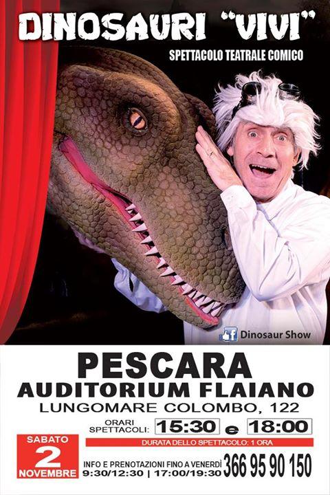 Spettacolo-Dinosauri-Vivi-teatro-comico-Pescara