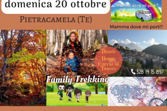 Family Trekking a Pietracamela