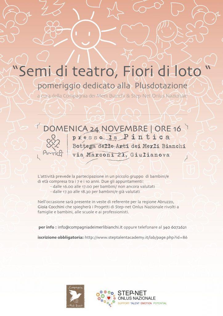 Si parlerà di Plusdotazione nei bambini in Abruzzo con la Compagnia dei Merli Bianchi