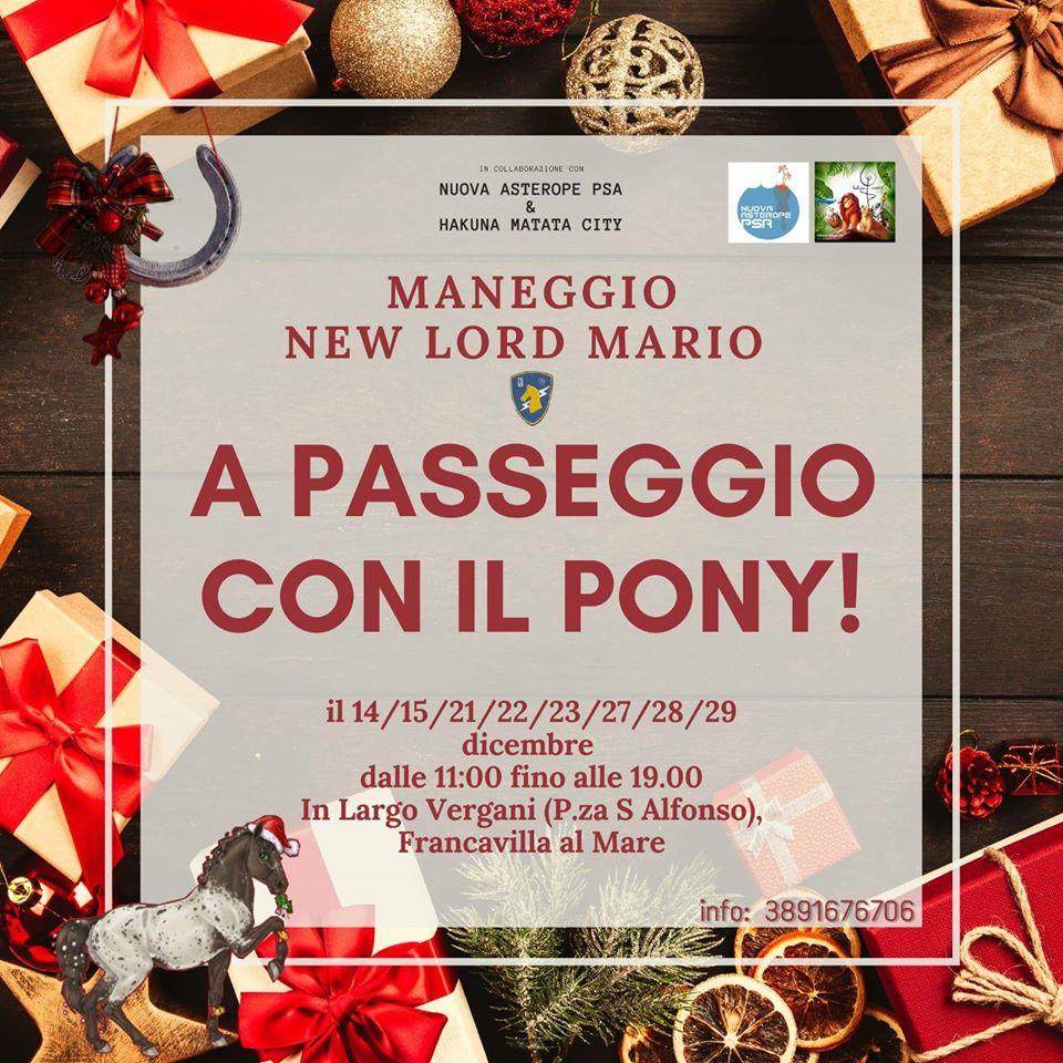 A passeggio con il pony del Maneggio New Lord Mario a Francavilla al Mare-Chieti