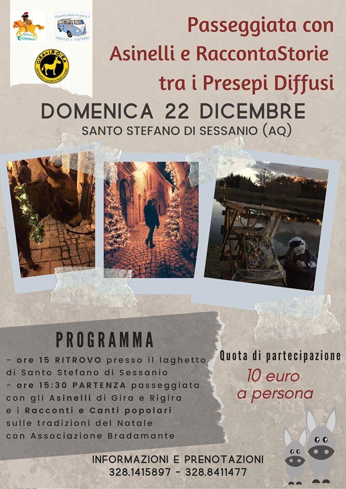Passeggiata-con-Asinelli-e-Raccontastorie-tra-i-Presepi-Diffusi-a-Santo-Stefano-di-Sessanio-LAquila