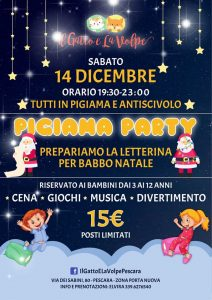 Pigiama-Party-Il-Gatto-e-la-Volpe-Pescara