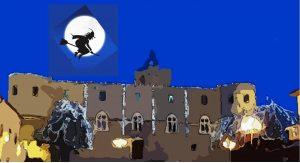Dalla-torre-del-castello-arriva-la-Befana-Capestrano-LAquila