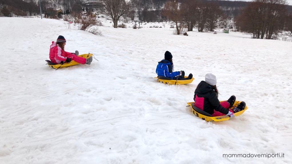 Dove portare i bambini sulla neve in Abruzzo