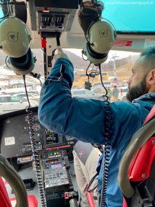eliciaspolata a roccaraso atterraggio dell'elicottero