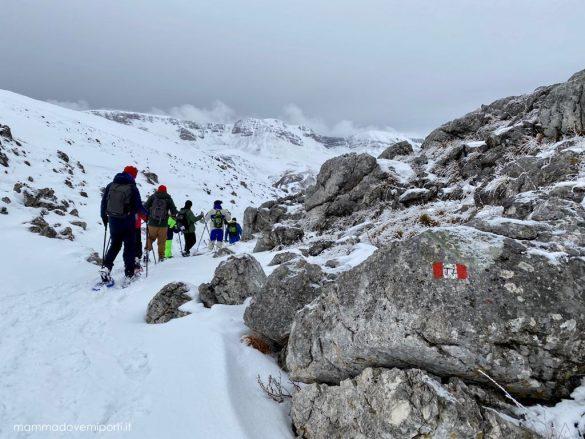 eliciaspolata a roccaraso ciaspolando in montagna