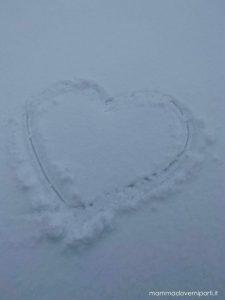 eliciaspolata a roccaraso cuore sulla neve