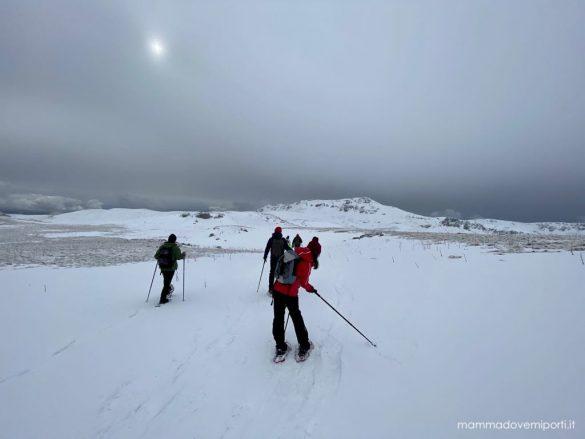 eliciaspolata a roccaraso disegnare sulla neve