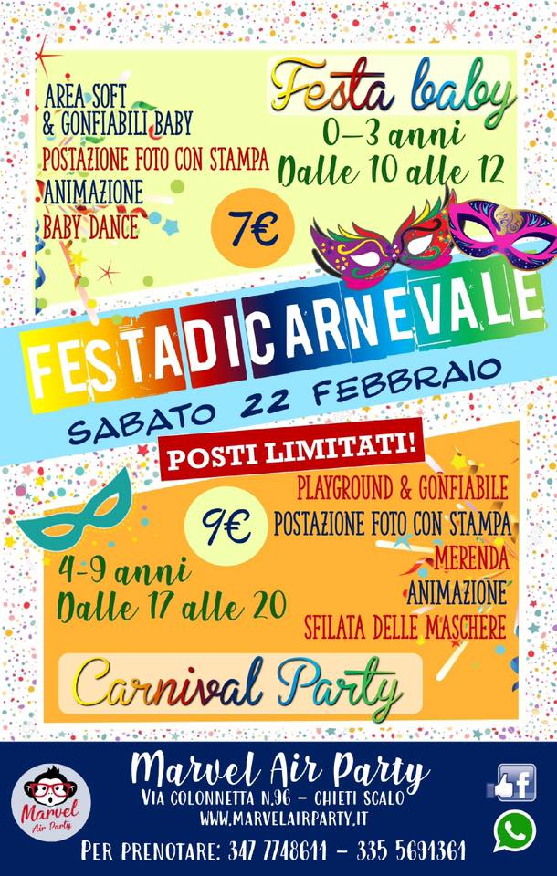 festa-di-carnevale-marvel-air-party-chieti-scalo