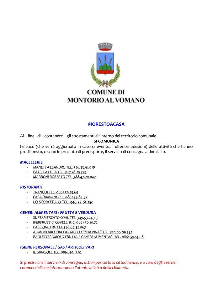Spesa a domicilio a Montorio al Vomano di Teramo