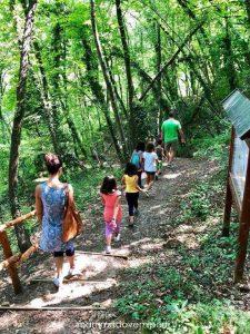 Sentiero verso lo stagno presso la Riserva Naturale Castel Cerreto