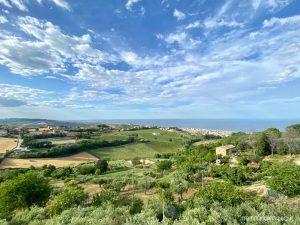 Il mare Adriatico visto da Tortoreto Alto