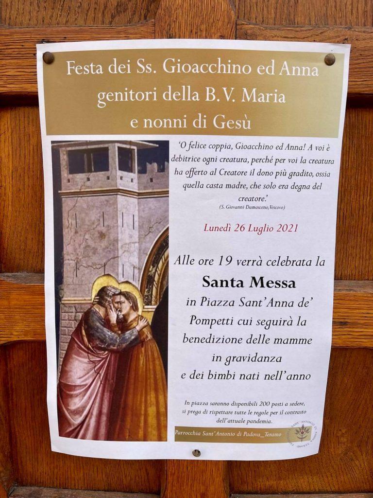 Festa di Sant'Anna e le benedizioni a Teramo