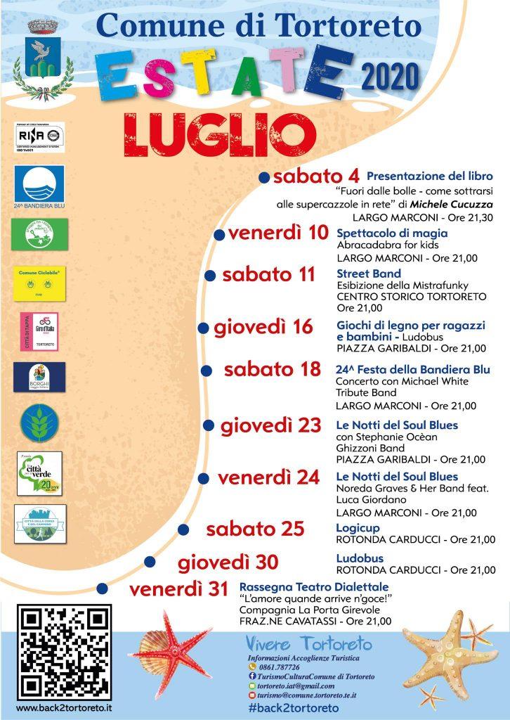 Eventi del mese di luglio dell'estate 2020 a Tortoreto con i bambini