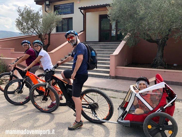 Partenza escursione in e-bike con Il Bosso