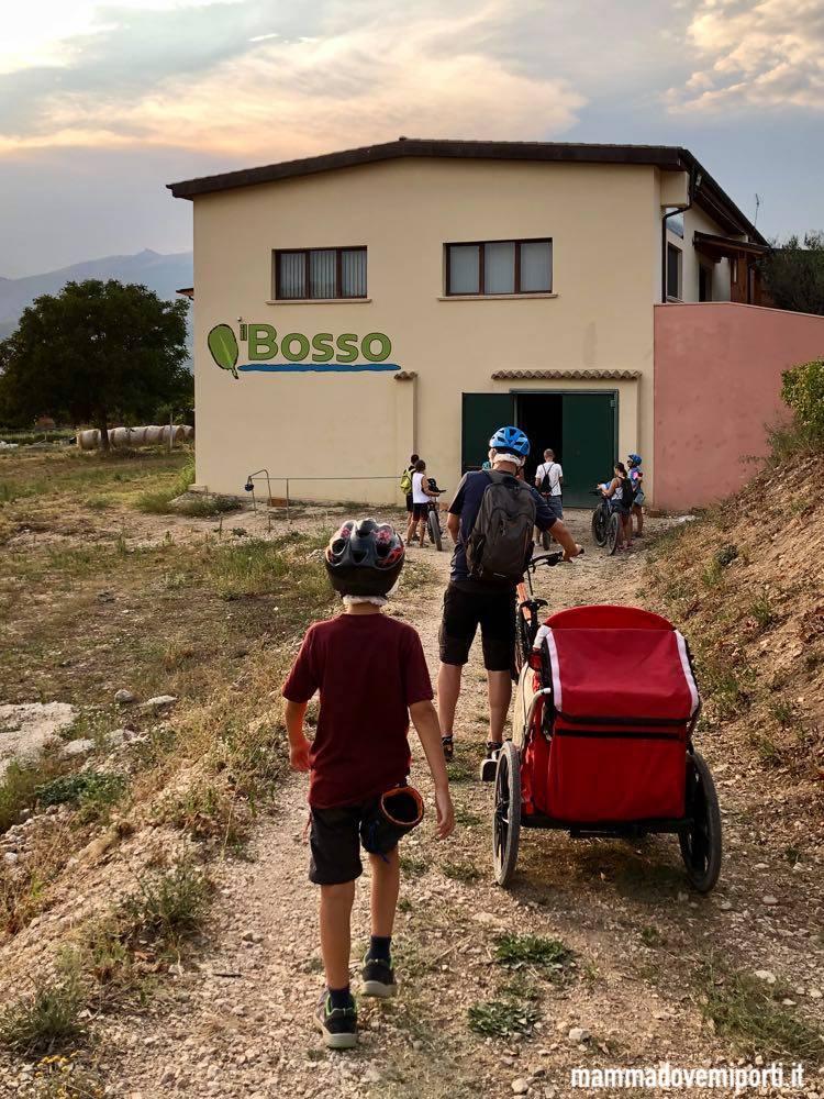 Arrivo all'Eco Ristoro dopo l'escursione in e-bike con il Bosso