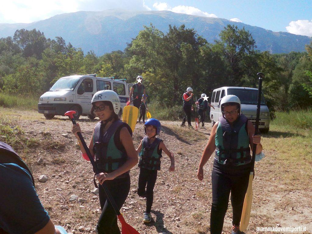 Briefing di Rafting per famiglie in Abruzzo