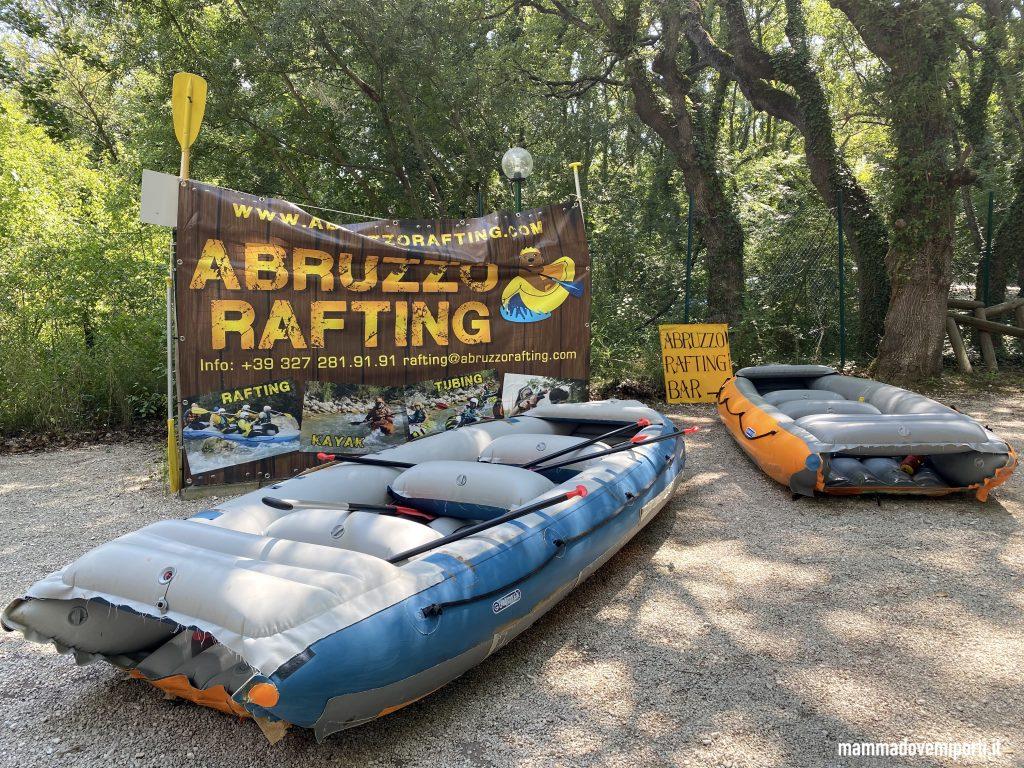 Gommoni Rafting per famiglie in Abruzzo