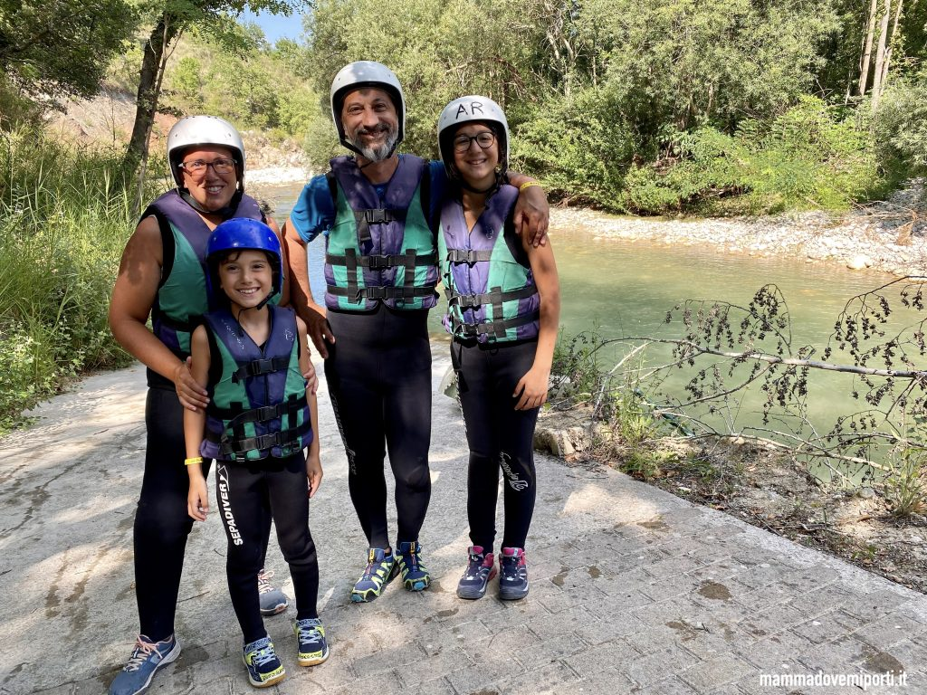 Pronti per il Rafting per famiglie in Abruzzo