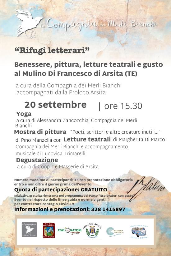Rifugi Letterari: Benessere, pittura e letture teatrali al Mulino di Arsita
