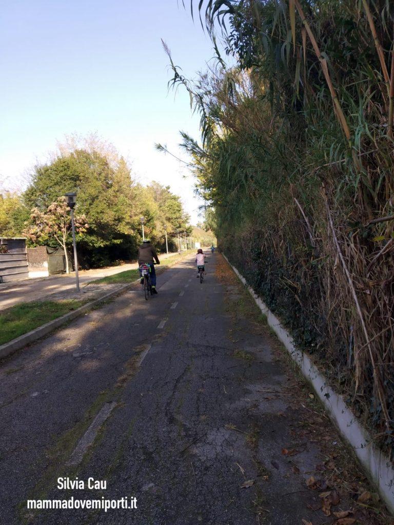 Piste ciclabili a Pescara: parte asfaltata Pista Ciclabile Parco Fluviale