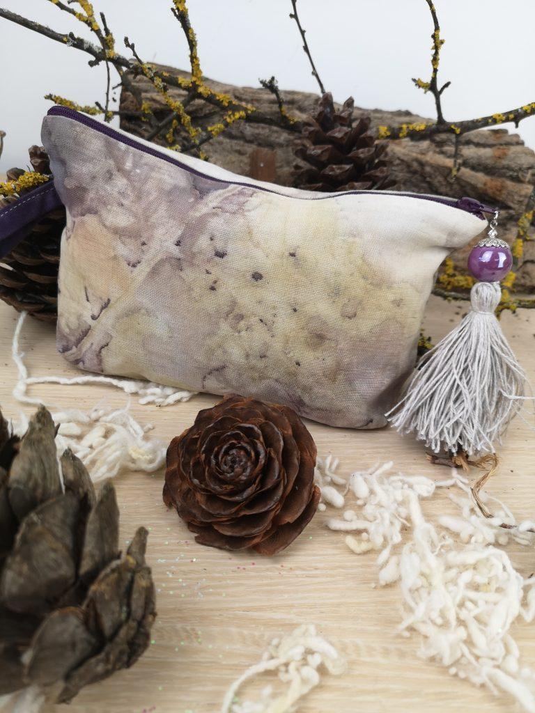 Regali di Natale 2020: idee regalo di Sogni di Cinzia, borsellino in cotone stampato con foglie