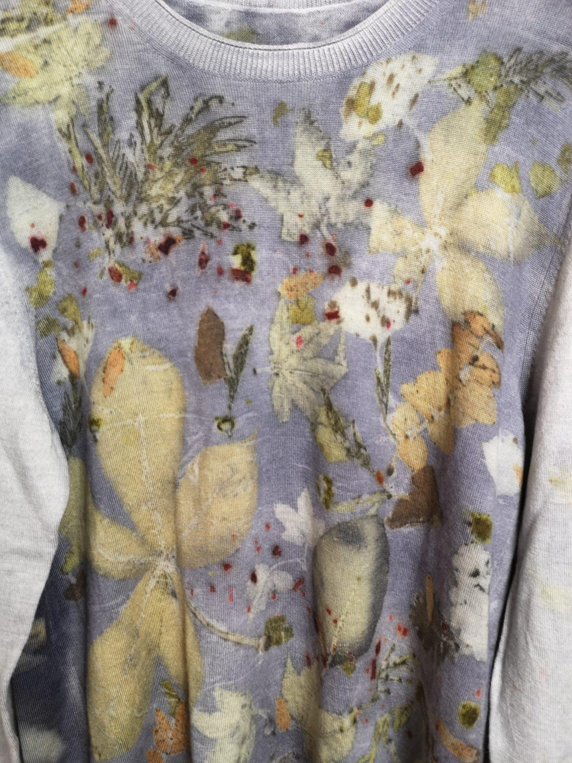 Regali di Natale 2020: idee regalo di Sogni di Cinzia, dettaglio maglione tinto