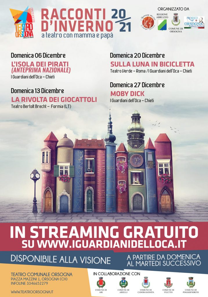 Teatro per ragazzi in streaming gratuito da I Guardiani dell'Oca