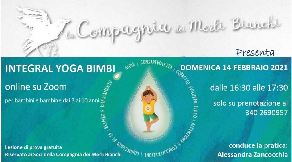 Lezioni di Integral Yoga Bimbi online - Compagnia dei Merli Bianchi