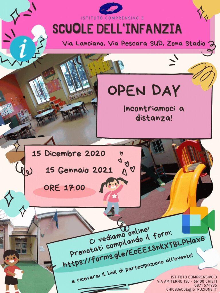 Open Day 2021 Scuole di Chieti Infanzia Istituto Comprensivo Chieti 3 Online