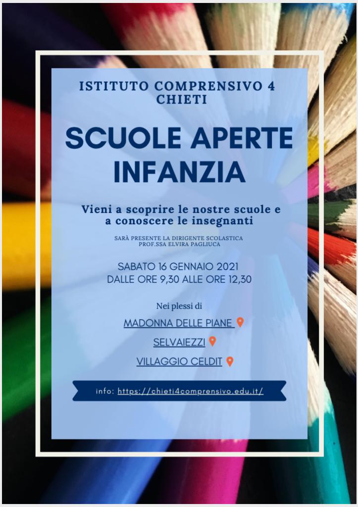 Open Day 2021 Scuole di Chieti Infanzia Istituto Comprensivo Chieti 4 in presenza