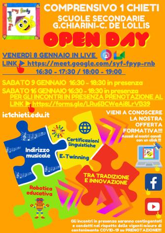 Open Day 2021 Scuole di Chieti Istituto Comprensivo Chieti 1 Secondarie