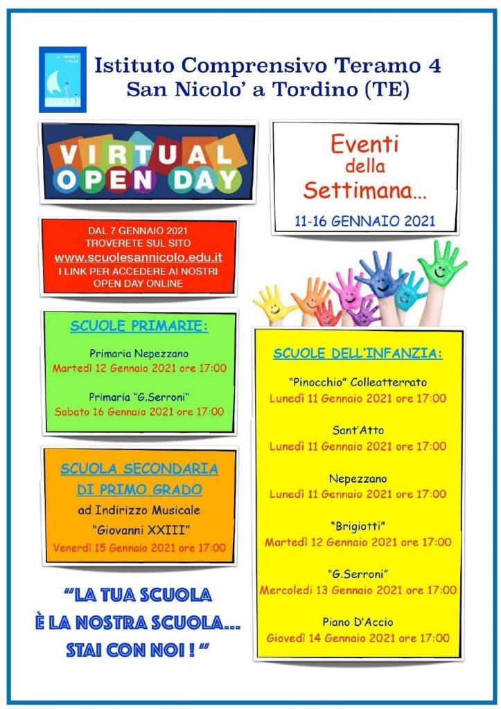 Open Day 2021 Scuole Teramo Istituto Comprensivo San Nicolò