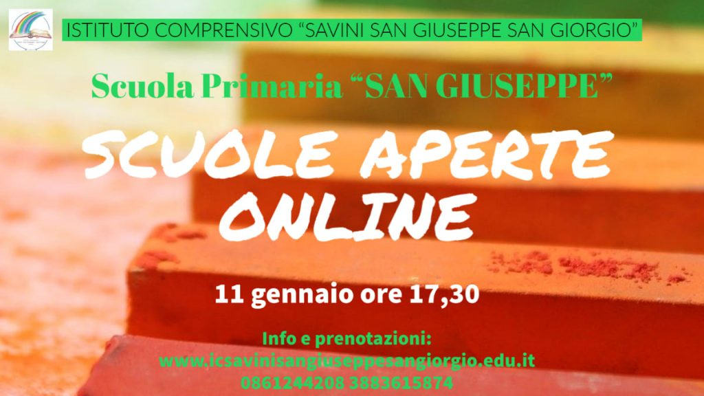 Open Day 2021 Scuole di Teramo Istituto Comprensivo 1 Scuola Primaria San Giuseppe