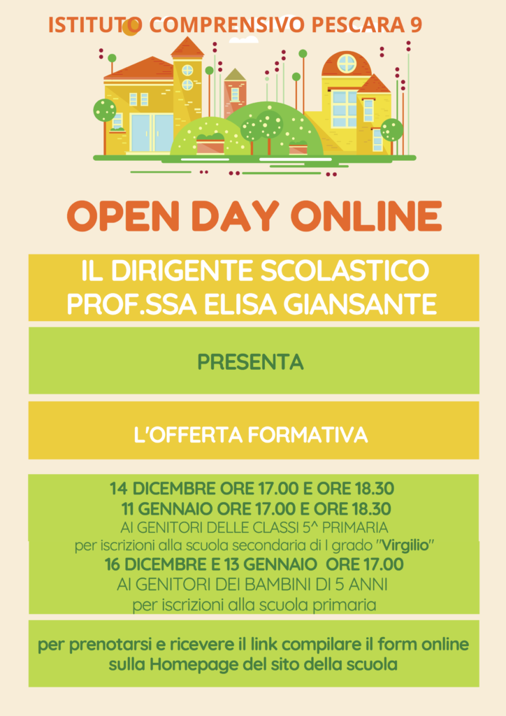 Open Day Istituto Comprensivo 9 Pescara
