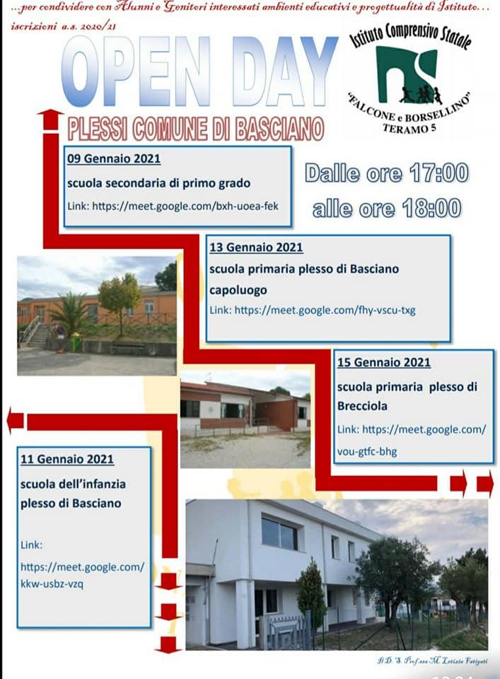 Open day 2021 Scuole di Teramo Istituto Comprensivo Falcone e Borsellino - Plessi Basciano