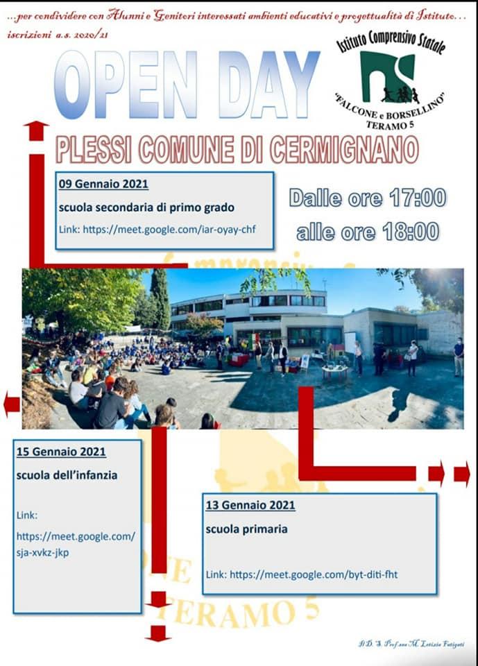 Open day 2021 Scuole di Teramo Istituto Comprensivo Falcone e Borsellino - Plessi Cermignano