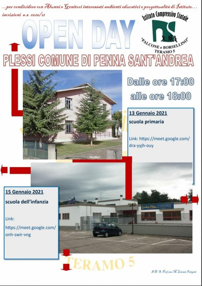 Open day 2021 Scuole di Teramo Istituto Comprensivo Falcone e Borsellino - Plessi Penna Sant'Andrea