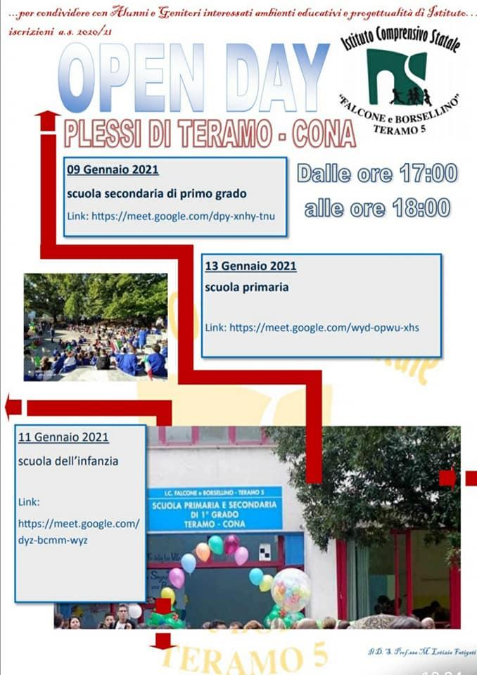 Open day 2021 Scuole di Teramo Istituto Comprensivo Falcone e Borsellino - Plessi Teramo-Cona