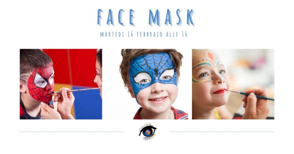 Face mask laboratorio di Carnevale online di Roberta Di Maurizio
