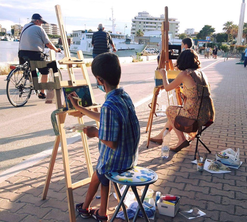 Corso di pittura per bambini all'Accademia delle Arti di Pescara