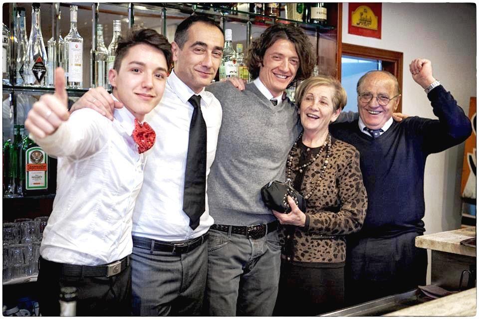 La famiglia di Massimo Grossi dell'Hotel Baltic
